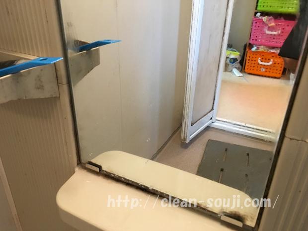 鏡についた水垢除去後