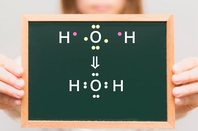 共有結合の例水分子